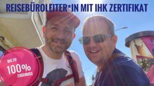 Reisebüroleiter mit André Bachmann und René Morawetz